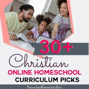 Looking for Christian online homeschool curriculum? Check out this big list of 30+ options and find the right fit for your homeschool!