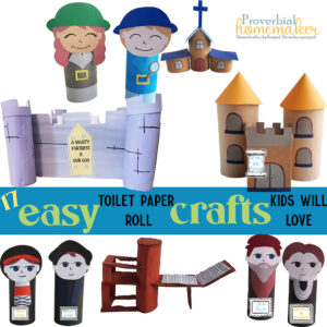 You kids will love these easy toilet paper roll crafts that teach church history, too!